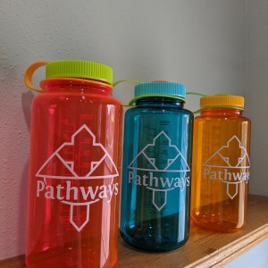 Selection of three Pathways water bottles
