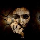 fear sad woman broken image