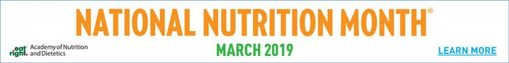 National Nutrition Month, March 2019