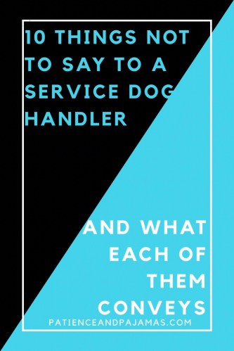 10 Things Not to Say to a Service Dog Handler