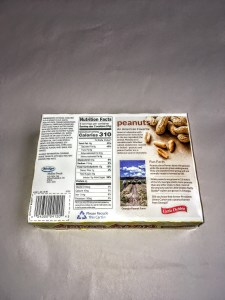 Box of Nutty Buddies, back view