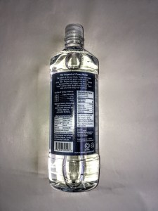 Bottle of Crazy Water, back view