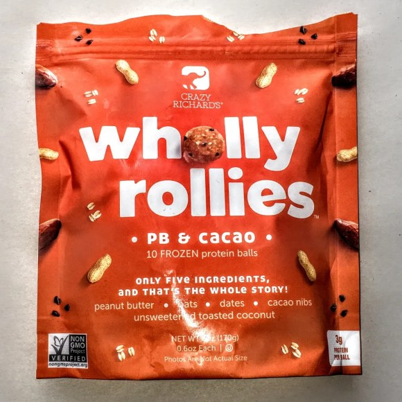 Bag of Crazy Richard's Wholly Rollies, front view