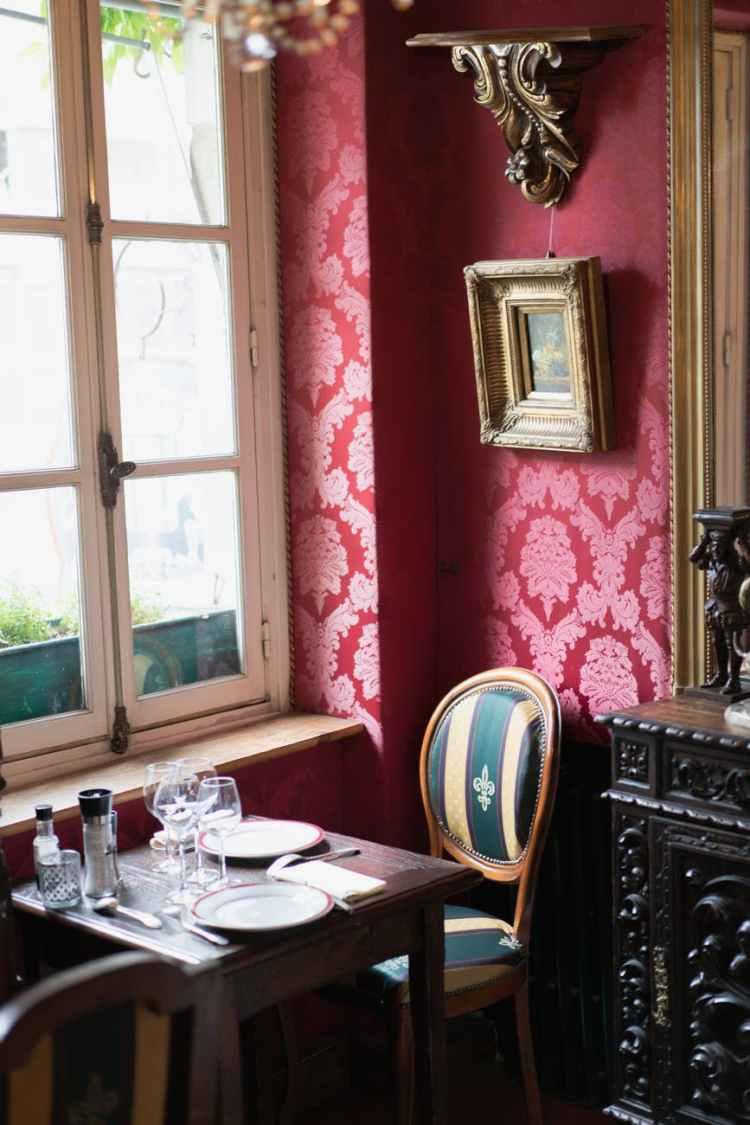 vintage restaurant with retro furniture