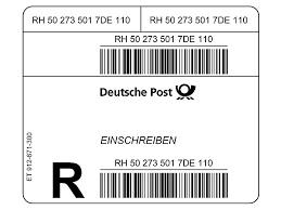 Patientenverfügungskarte Einschreiben