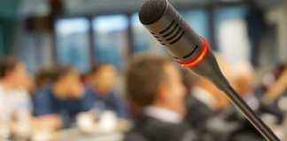 microphone in meeting