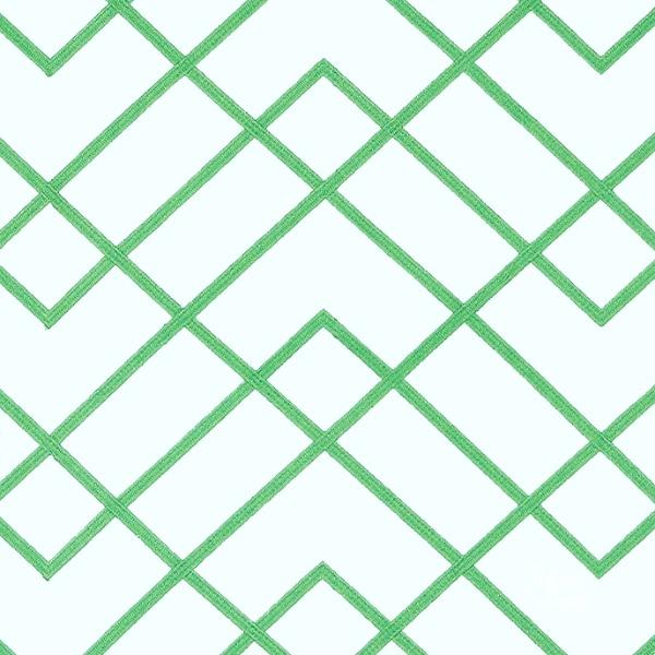 green and white trellis fabric