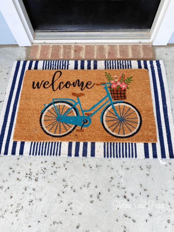Bicycle doormat and rug