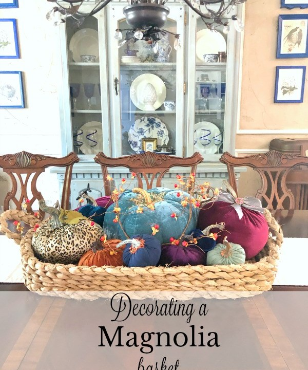 Decorating a magnolia basket