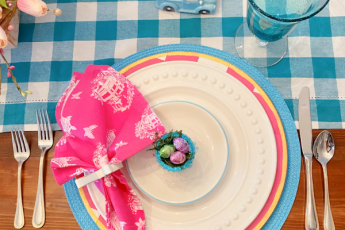 Pandemic Easter placesetting