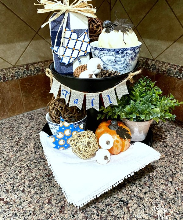 Fall Two Tiered Tray