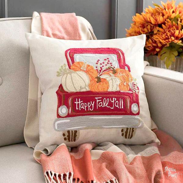 Fall truck pillow