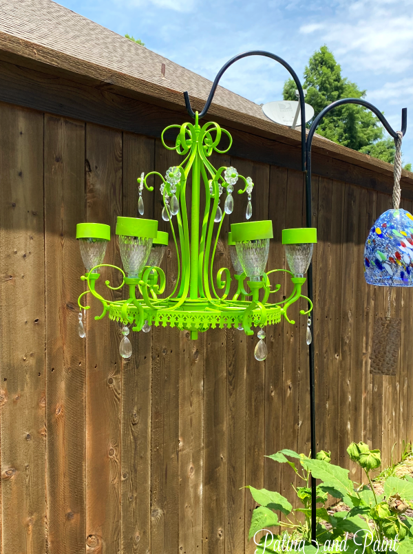 Painting the Chandelier Green