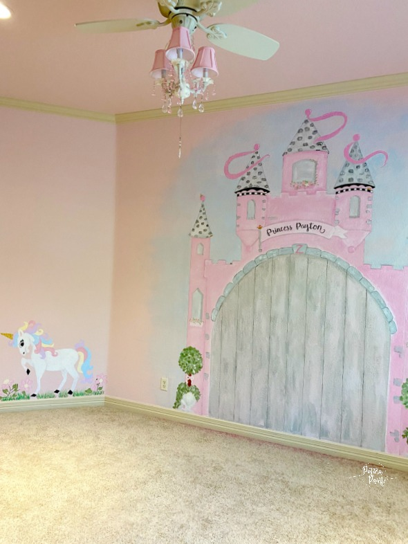 unicorn and castle murals