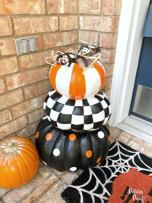 Painted Stacked Pumpkins