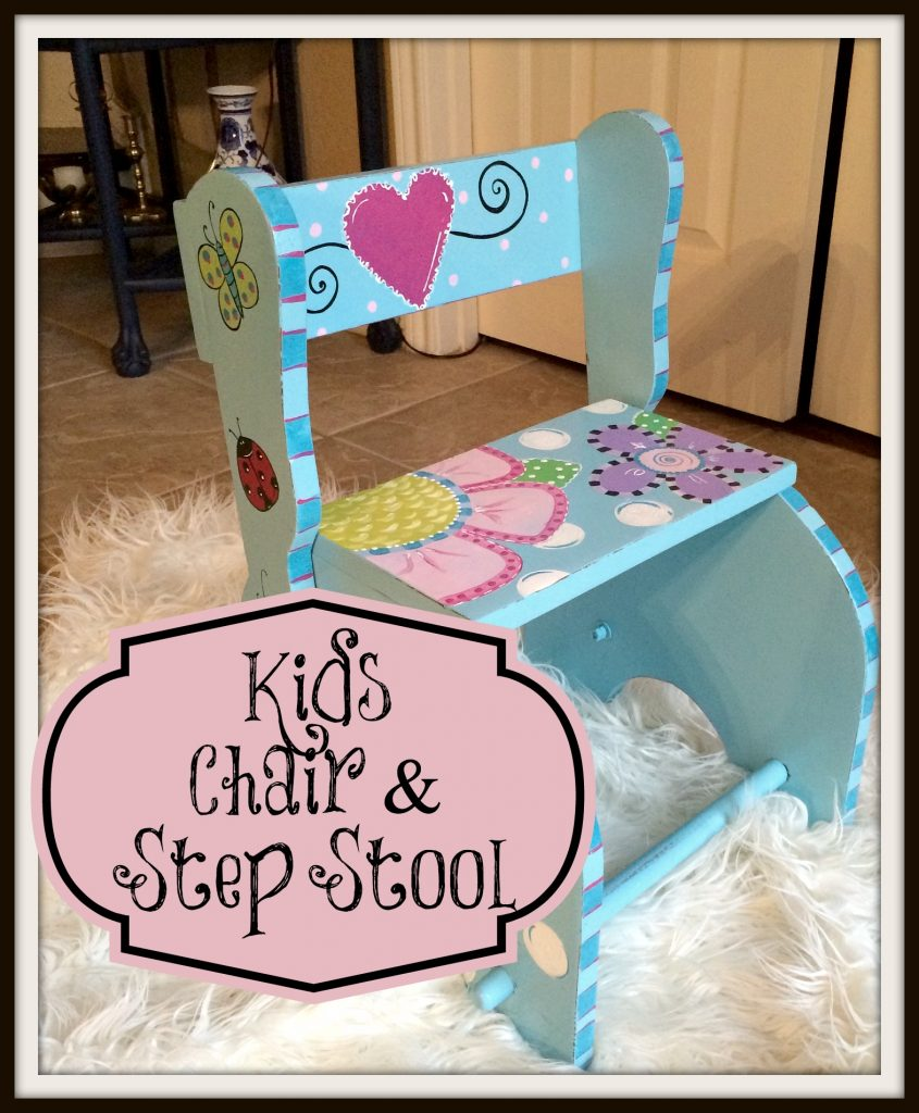 Kids Chair and Step Stool