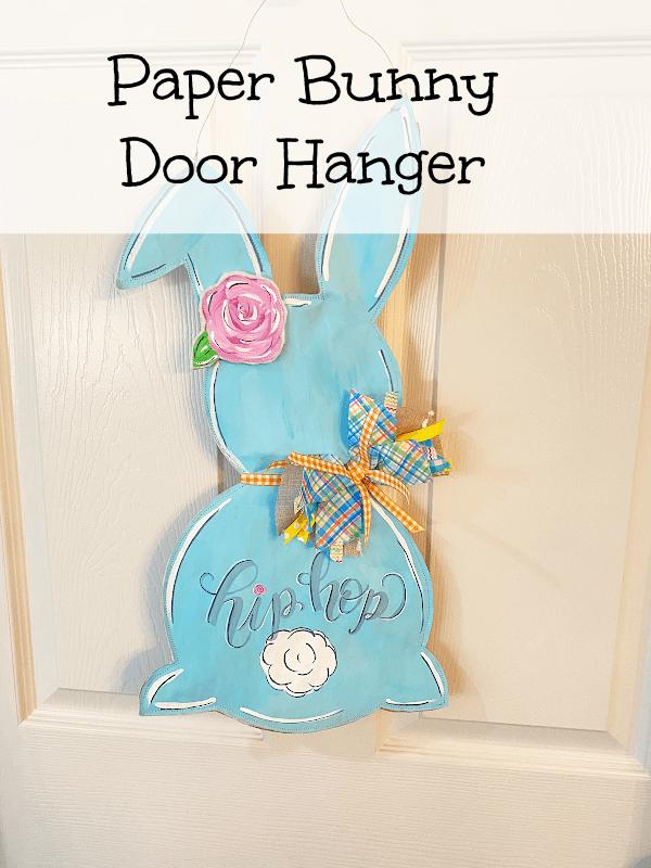 Paper Bunny Door Hanger