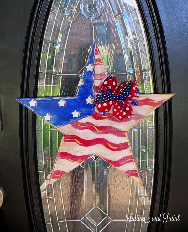 Patriotic star doorhanger