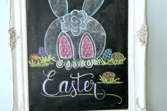 easter chalk board
