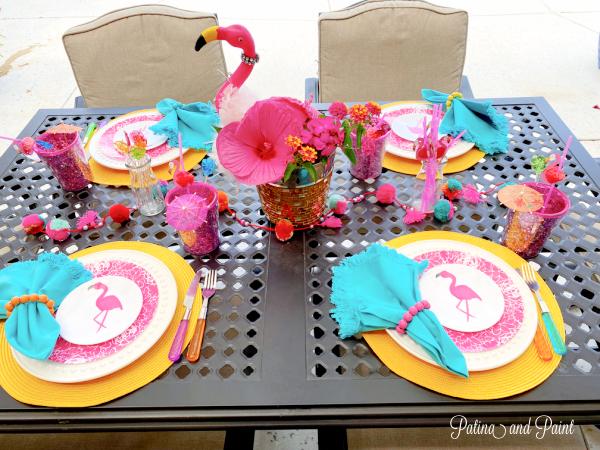 Summer Flamingo Table
