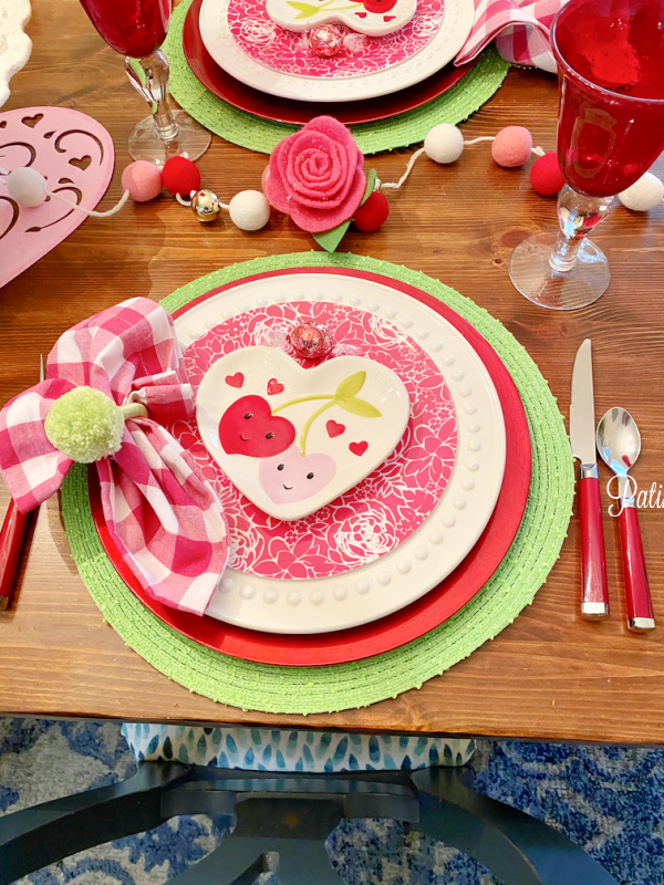 Valentines placesetting