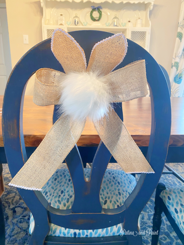 bunny tail chair tie