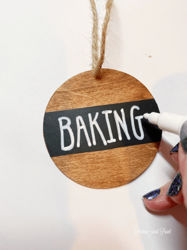 Baking tag, chalkboard pen