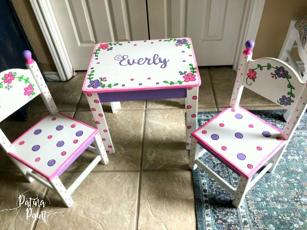 Painting a Children's Table