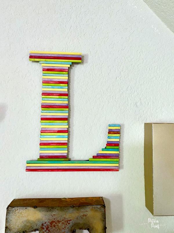 dowel rod letter