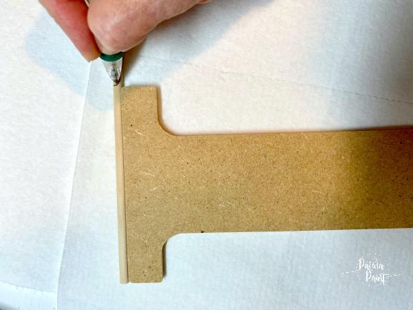 wooden letter, dowel