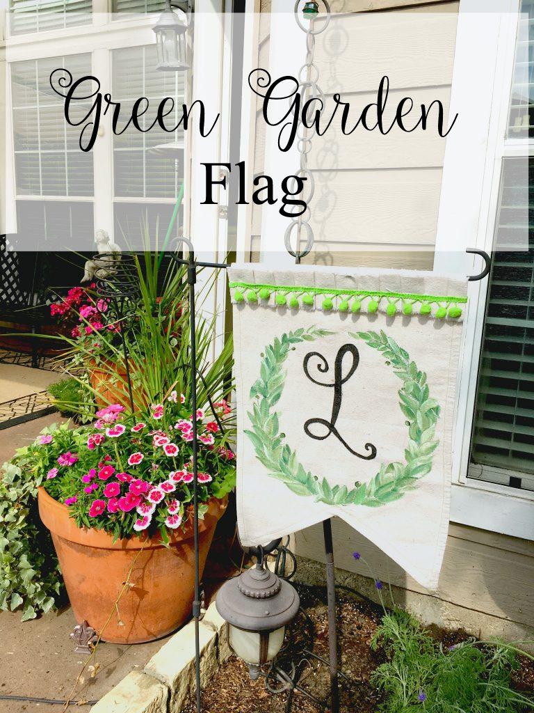 Green Garden Flag