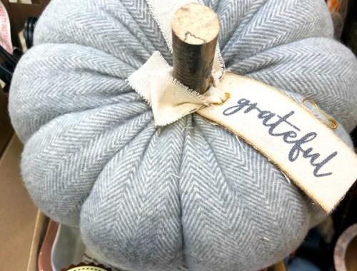 grey herringbone pumpkin