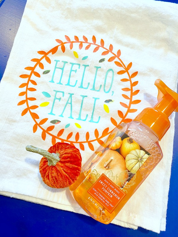 fall dish towel
