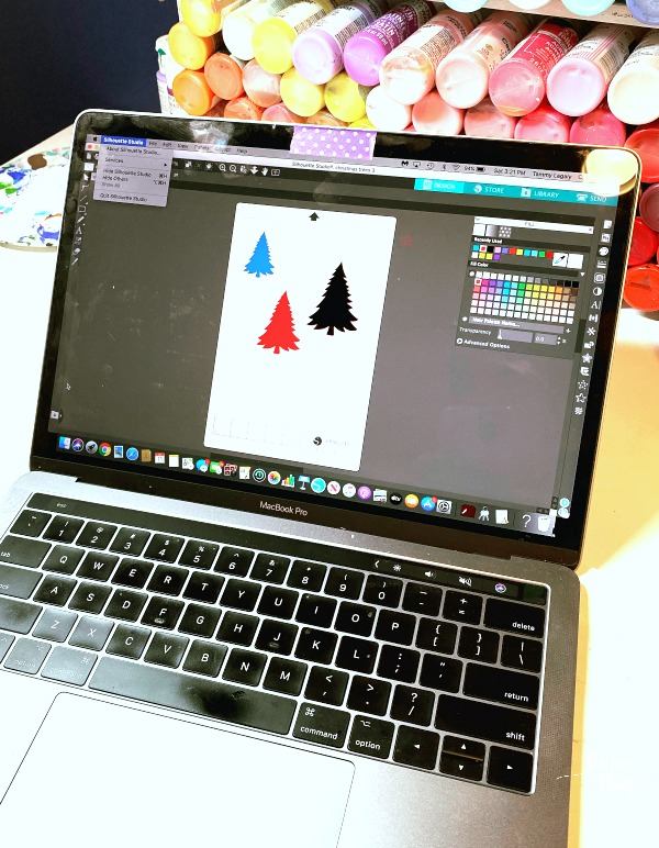 laptop, Christmas tree designs