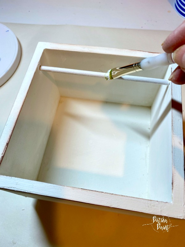 painting a dowel rod
