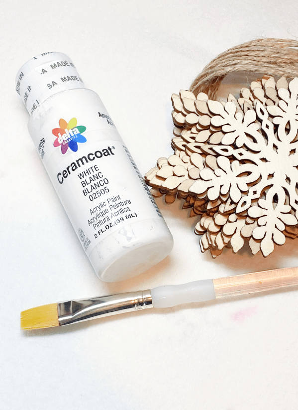 paint, paintbrush, snowflake