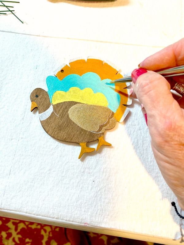 painting a turkey