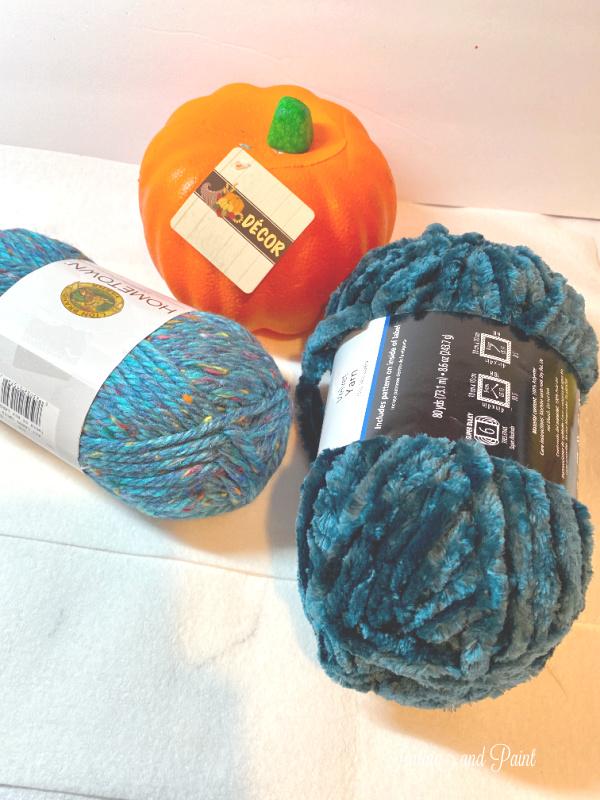 pumpkin, yarn