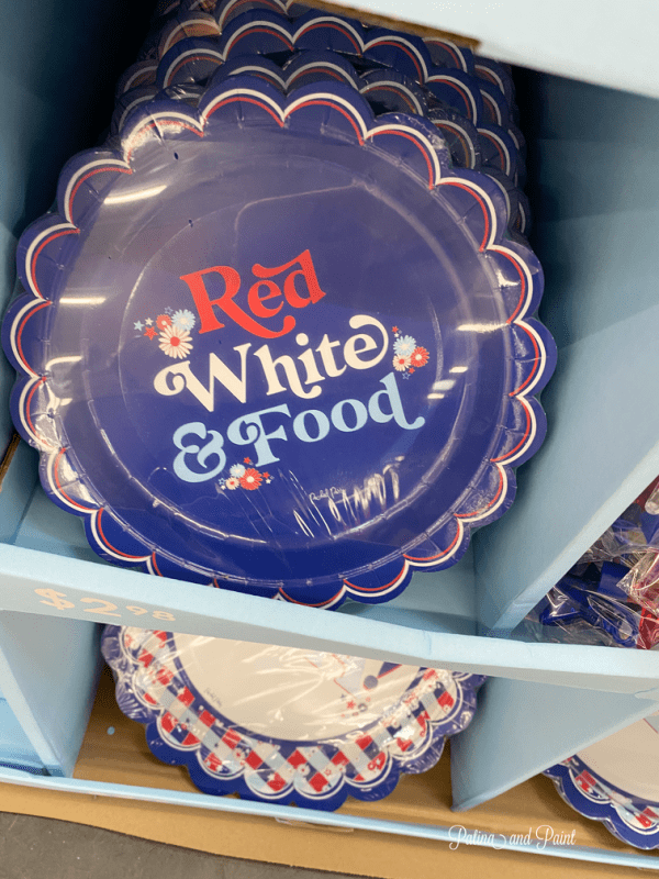 packed party paper plates