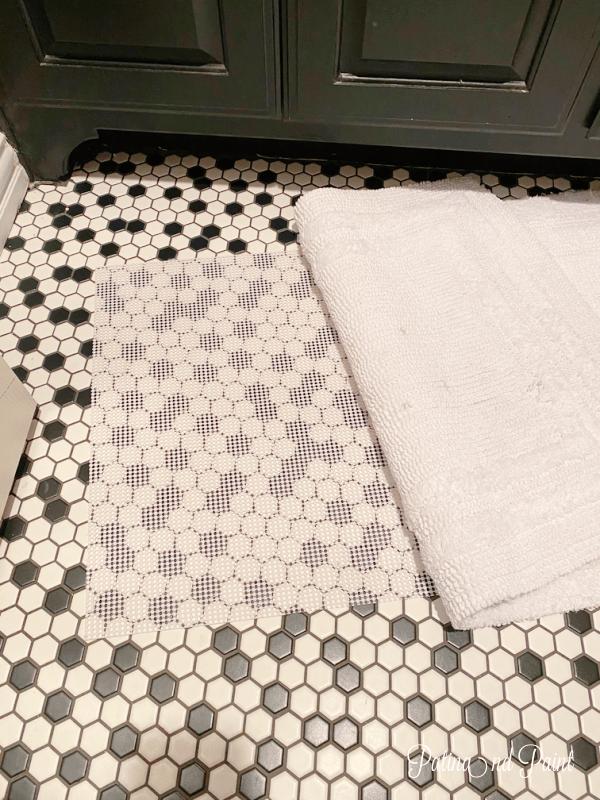 bathroom rug, shelf liner