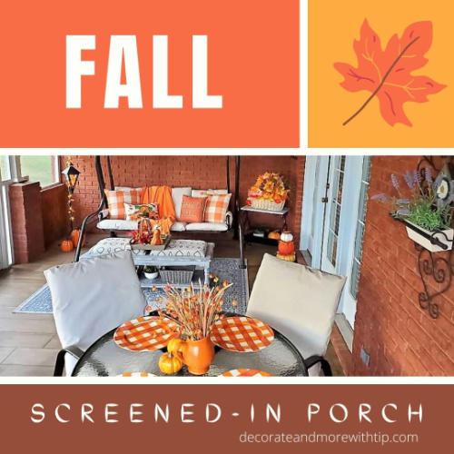 Terrie fall screened in porch