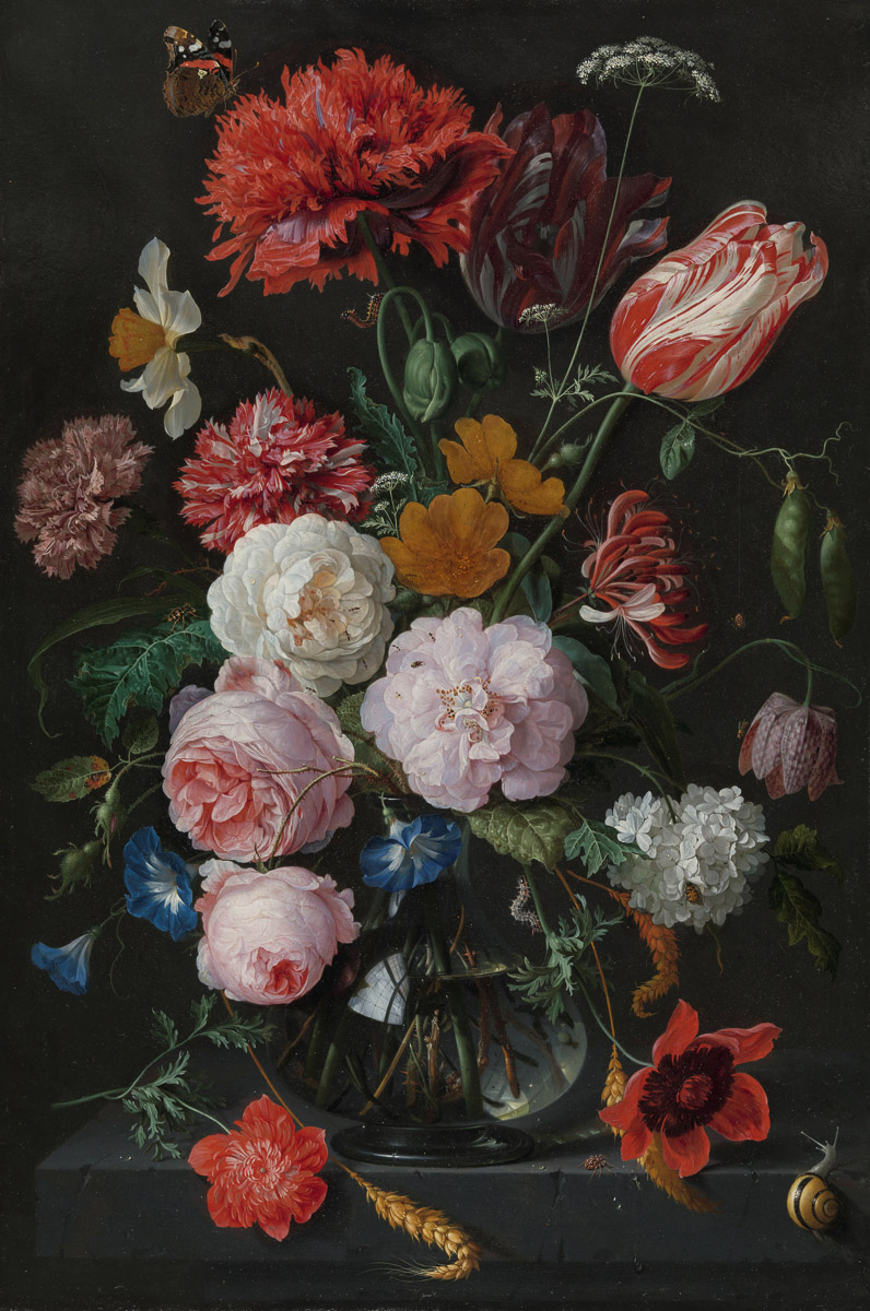 Floral Still Life Painting by Jan Davidsz. de Heem