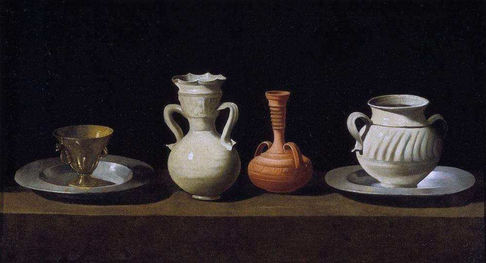Still life oil painting by Spanish old master painter Francisco de Zurbarán