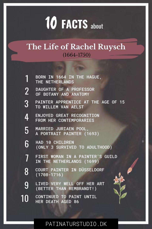 10 Facts about The Life of Rachel Ruysch | Rachel Ruysch: 17th Century Superstar Artist / Superwoman | Patinatur Studio