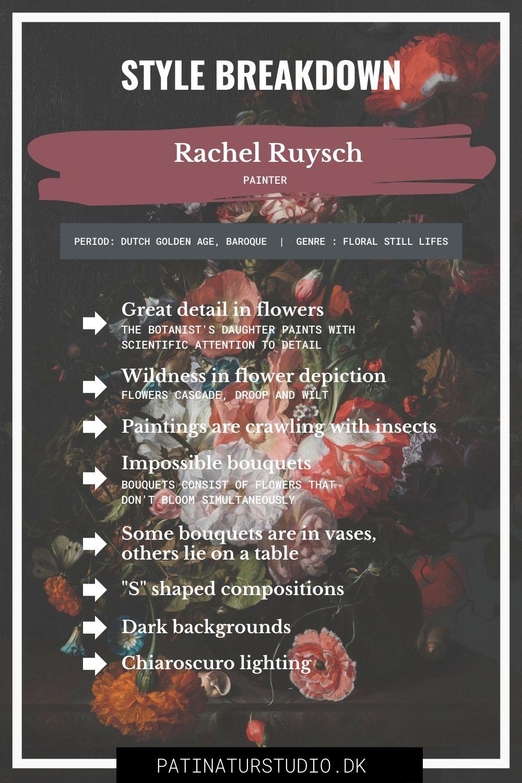 Style Breakdown of Rachel Ruysch's Art | Patinatur Studio
