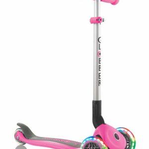 scooter globber primo led rosado