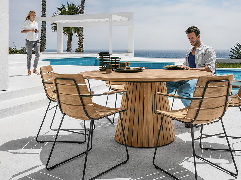 the whirl outdoor dining table is part