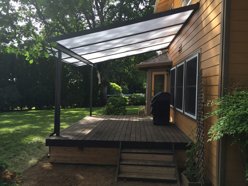 cool blue acrylic panes patio cover