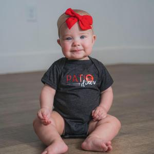 Front of Patio Diner t-shirt, Patio onesie for babies