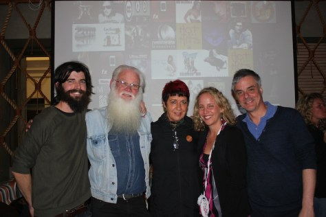 Michael and Neil with Carolyn M. Briggs from Boon Wurrung Foundation, Patricia Acuna and film editor Manny Mejia